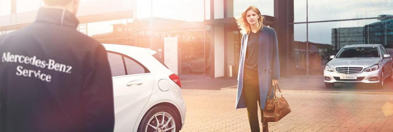 Boka service hos Mercedes